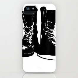 Grunge Rock Boots Shirt 90s Punk Rocker Band Fashion Gift iPhone Case