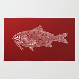 red fish poisson Rug
