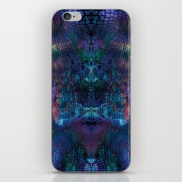 Violet snake skin pattern iPhone Skin