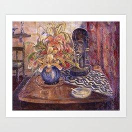 African American Masterpiece 'Fetiche et Fleurs' by P. Hayden Art Print