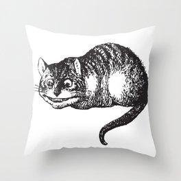 Cheshire Cat - Alice in wonderland Throw Pillow
