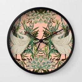 Romantic Swan Wall Clock