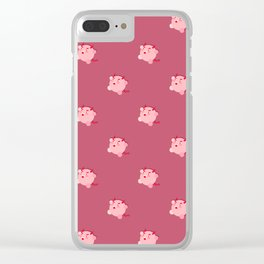 The cutest evil demon ever! pattern Clear iPhone Case