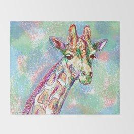 Colour Giraffe Throw Blanket