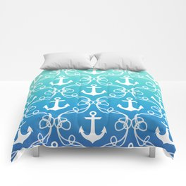 Nautical Knots Ombre Comforters