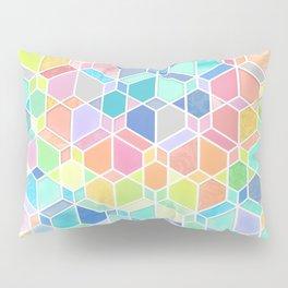 Rainbow Cubes & Diamonds Pillow Sham
