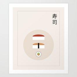 Sushis plate Art Print