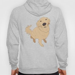 Golden Retriever Love Dog Illustrated Print Hoody