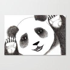 Panda Close Up Canvas Print