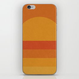 Retro Geometric Sunset iPhone Skin