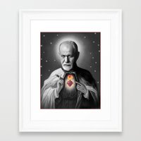 freud Framed Art Prints featuring Freud by Michelle Wenz