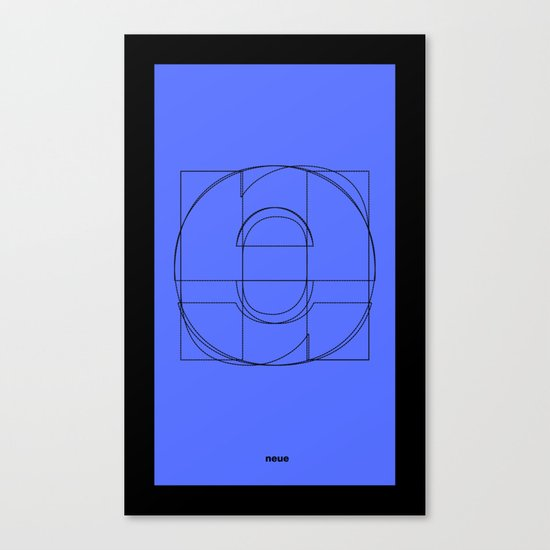 Die Neue Haas Grotesk (C-01) Canvas Print