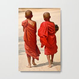 Novice Monks Metal Print