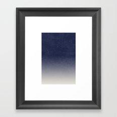 Gradient II - in Midnight Framed Art Print