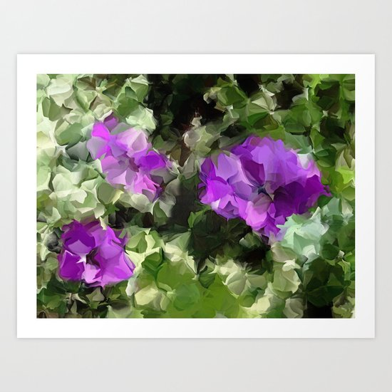 Sidewalk Flowers Art Print