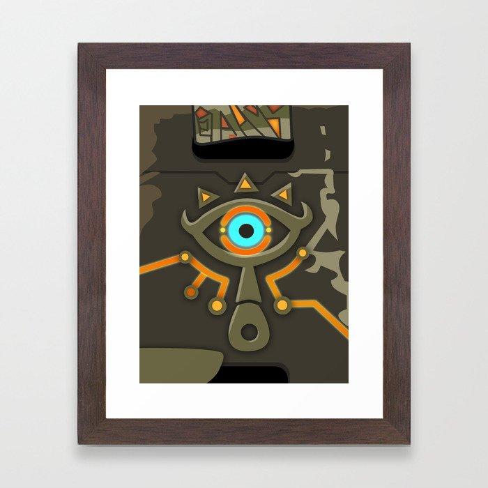 Zelda Sheikah Slate Framed Art Print