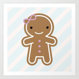 Cookie Cute Gingerbread Girl Art Print