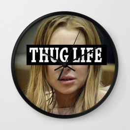 """Lindsay Lohan """"Thug Life"""" **Signed** Wall Clock"""