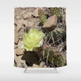 Cactus with Yellow Flower Shower Curtain