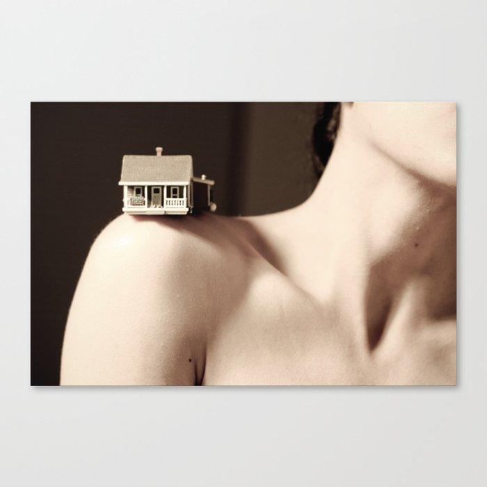 House on a Hill, I Canvas Print