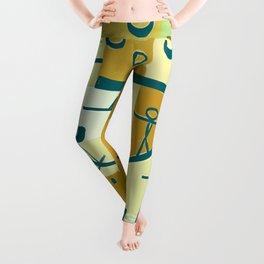 Paul Klee Inspired - The Nile #3 Leggings