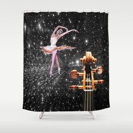 Violin and Ballet Dancer number 1 Shower Curtain