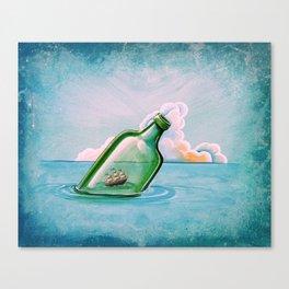 The Messenger - ship at sea Canvas Print