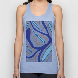 Between corals and blue waters Unisex Tank Top