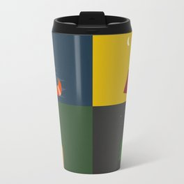 Camping Series: Canoe, Tent, Fire, Trees Travel Mug