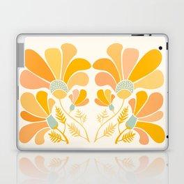 Summer Wildflowers in Golden Yellow Laptop & iPad Skin