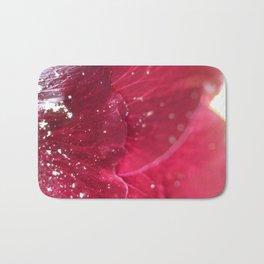 Wine red Alcea rosea 3 Bath Mat