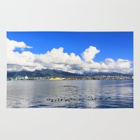 vancouver Area & Throw Rugs featuring North Vancouver by Chris Root
