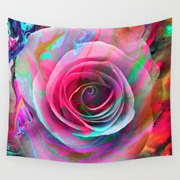 Marble Colored Rose Wall Tapestry
