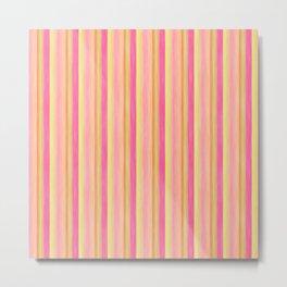 Pink Yellow Scrapbook Sherbert Metal Print
