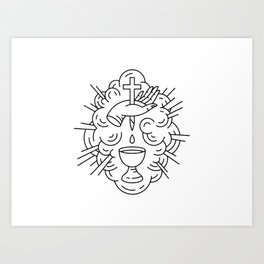 Communion Line Art Art Print