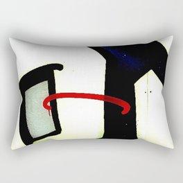 graffiti abstract black red, london Rectangular Pillow