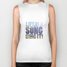 Life is a Song Biker Tank
