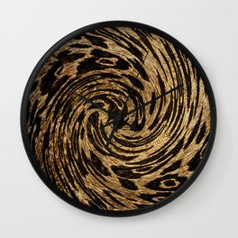 Animal Print Leopard Wall Clock