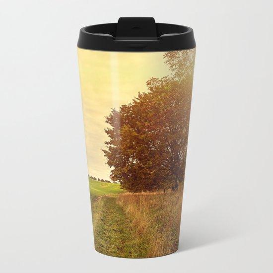 Autumn Walk Metal Travel Mug
