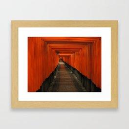 Vermillion Gates - Fushimi Inari, Kyoto Framed Art Print