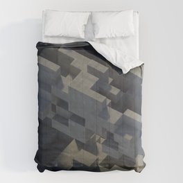 Abstract Concrete IV Comforters