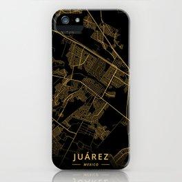 Juarez, Mexico - Gold iPhone Case