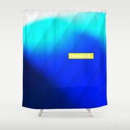 IMAGINE gradient no1 Shower Curtain