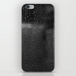 Black and White Rain Drops; Abstract iPhone Skin