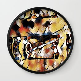 Sedimentary Wall Clock