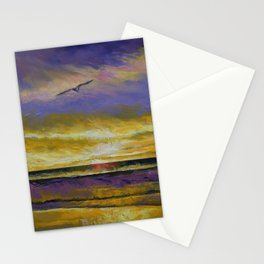Seagull Sunset Stationery Cards