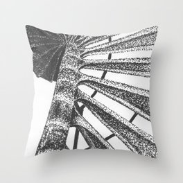 Cape Henry Lighthouse Spiral Stairs Throw Pillow