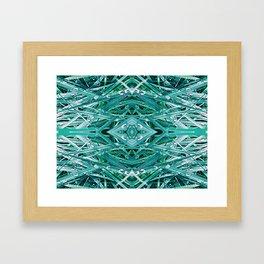 Green Drop Framed Art Print