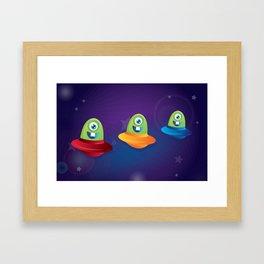 Baby Aliens Framed Art Print