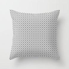 Quatrefoil Grey Throw Pillow